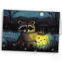 Fireflies or lightning bugs? Do you remember catching them in jars on warm summer nights? - Firefly Collection zazzle_card