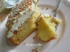 Los dulces de Mica: Bizcocho de mascarpone y amaretto con crocanti de almendras