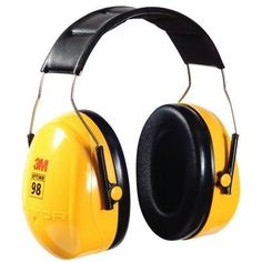 3M™ PELTOR™ Optime™ 98 Over-the-Head Earmuffs H9A Recommended for TWA noise exposures up to 98 dBA Stainless steel headband distributes weight for low pressure