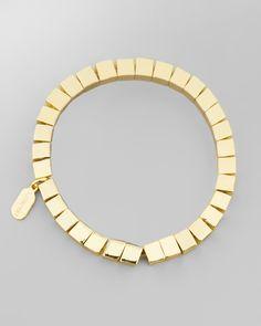 Rome Golden Square-Bead Bracelet