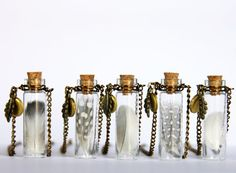 Bottle Feather Necklace