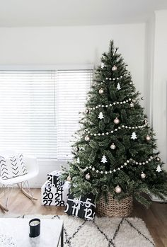 Minimal Scandinavian Christmas tree