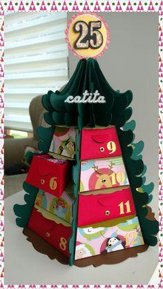 Calendario de Adviento. Arbolito 3d.