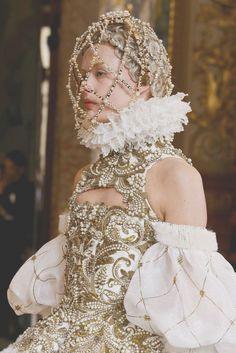 Frida Gustavsson at Alexander McQueen F/W 2013