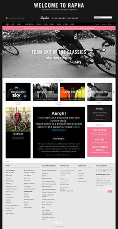 Rapha   Website Design