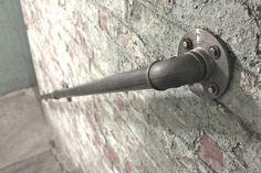 Industrielle acier foncé dirigez escalier main courante ou rampe d'escalier monté de mur