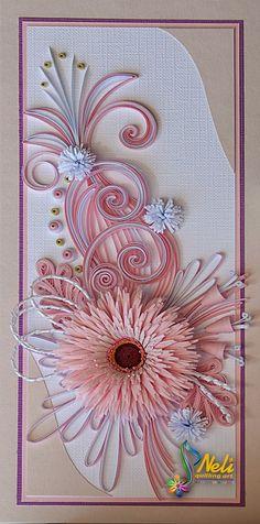 Quilling card  ( 9.5 cm - 20 cm )
