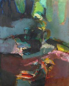 Sanibel Island by Syd Solomon, c. 1959.  Oil tempera on canvas.