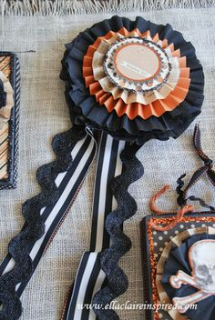 """*** Ribbon for """"Best Witch"""" costume??? {Ella Claire}: DIY Halloween Decor"""
