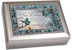 You'll Never Know How Much You Mean to Me Musical Music Jewelry Box - Plays What a Wonderful World