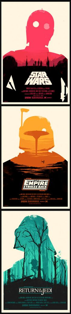The most amazing Star Wars posters ever. By the fabulous Olly Moss