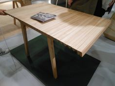 Nathalie Dackelid, extendable table Wooden Cloth