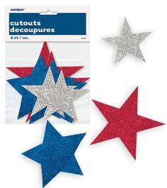 Patriotic Stars Assortment Cutouts