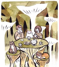 maruti-bitamin: tea with cats