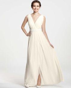 goddess v-neck wedding dress