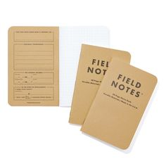 Keep track of good information with Field Notes Memo Books, inspired by an agricultural tradition.