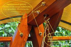 Шикарные деревянные садовые качели— фотография №4