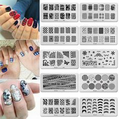 6 #style nail art image #stamp #polish #stamping template plates  diy manicure too,  View more on the LINK: http://www.zeppy.io/product/gb/2/201550394453/