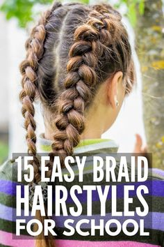 Braid Hairstyles for Kids: 15 Step-by-Step Tutorials to Inspire You 15 School Ha. - Braid Hairstyles for Kids: 15 Step-by-Step Tutorials to Inspire You 15 School Hairstyles for Girls - Braided Hairstyles For School, Easy Hairstyles For Kids, Cute Hairstyles For Medium Hair, Cute Girls Hairstyles, Braided Hairstyles Tutorials, Medium Hair Styles, Curly Hair Styles, Braid Hairstyles, Hair Medium
