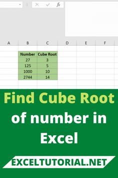 Find Cube Root of number in Excel. . #Excel #microsoftexcel #Exceltutorial #Exceltutorials #Exceltutor #tutorialexcel #microsofttrainingexcel #microsoftexceltips #Excelformulas #Excelvba #Exceltips #Exceltipsandtricks #Excelvideo #Excelshorcuts What You Can Do, How To Find Out, How To Become, Excel Formulas, Excel For Beginners, Microsoft Excel, Bar Chart, Cube, Numbers