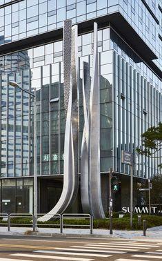 Tap System, Sign System, Entrance Signage, Landscape And Urbanism, Artistic Installation, Art Sculptures, Seoul Korea, Nameplate, Interactive Design