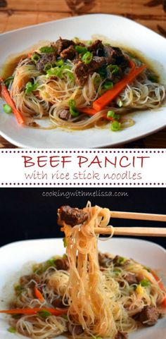 BEEF PANCIT...the best stir fry noodles ever!  I love Rice Noodles and this is a great way to make them! Anyone can do this! #BeefStirFry #RiceNoodles