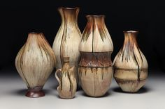 Stoneware Vases by Sarah Wells Rolland.  http://www.marthastewart.com/americanmade/nominee/96285/crafts/the-village-potters