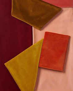 beautiful palette of blush, mustard, rust and burgundy