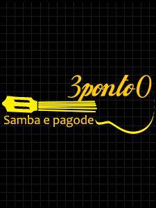 Logomarca 3ponto0 Samba e Pagode