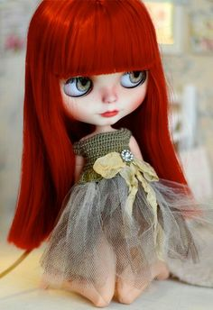 Blythe doll...luv the red hair...