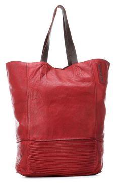 wardow.com - Taschendieb Wien, Shopper Leder rot 40 cm, #marsala, #trend, #bag