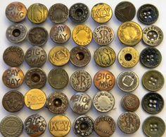 metal / brass buttons
