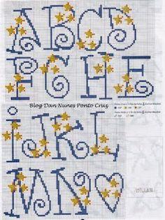 Whimsy Star Alphabet - 100% _ponto_cruz