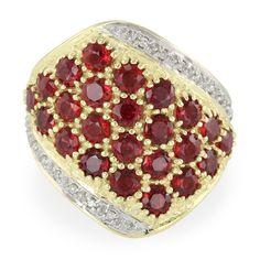 Bague en or et Rubis Rouge du soir-1055NH   Juwelo Bijouterie