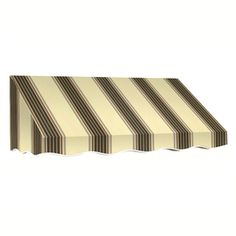 Awntech�3-ft 4-1/2-in Wide x 3-ft Projection Taupe Multi Striped Slope Window/Door Awning