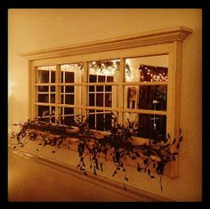 Mirror Made From Reclaimed Window Panes by BeneathTheGrate on Etsy, $550.00