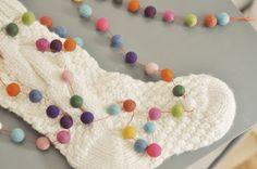 tangled happy: Yarn Crafting With Kids: Felt Ball Garland