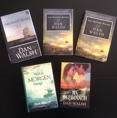 Exciting to See - My publisher just sent me a new Polish edition of my 3rd novel, The Deepest Waters. That makes 6 editions of this novel (the 2nd pic). Clockwise from top left: Hardback Large-print edition, original Paperpack, Hardback Book Club edition, new Polish edition, Dutch edition (not shown, Ebook edition).