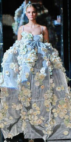 Dolce & Gabbana. So flowery and beautiful!    / ♕❁Follow❁♕  → @anatastical ←