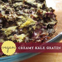 Vegan creamy kale gratin | Happy Veggie Kitchen