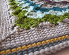 wool eater. love these colors. and again with the edging.