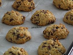 It is a cookie that I love to make and that the household likes. Oatmeal Recipes, Donut Recipes, Easy Cake Recipes, Cookie Recipes, Sweet Cookies, Cake Cookies, Biscotti Biscuits, Turkey Cake, Oatmeal Chocolate Chip Cookies