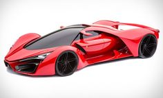 "$$$ The Ferrari F80 concept swaps out the V12 engine for ""KERS technology to coax a hypothetical 1,200 horses from a twin-turbo hybrid V8,"" writes Uncrate. Imagined by Italian designer Adriano Raeli, he ""expects that power to be good for a 0-62 time of 2.2 seconds, and a top speed of 310 mph, fast enough to earn a spot among the fastest production cars of all time."" $$$"