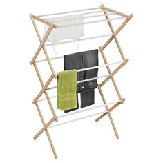 Featuring a convenient folding design and an adjustable height option, this wood drying rack is an essential addition to your laundry routine.
