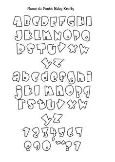Letras Cute Fonts Alphabet, Bubble Letter Fonts, Alphabet Style, Hand Lettering Alphabet, Graffiti Alphabet, Graffiti Lettering, Calligraphy Letters, Typography, Creative Lettering