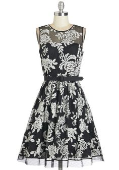 Ever Elegantly Dress. Every little glance and gesture made in this black-and-white dress looks more ladylike than ever. #black #wedding #modcloth