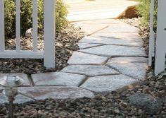 Quick Set Concrete Makes a Stone Look Walkway :: Hometalk