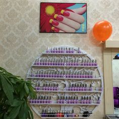 six-layer 47inch diameter Cosmetic display rack hanging nail polish shelf -120cm of  diameter