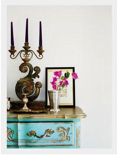 Turquoise & Fushia..love