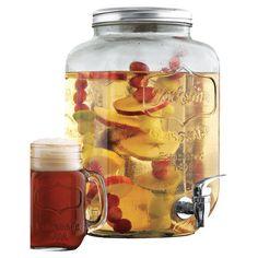 Found it at Wayfair - Glass Mason Jar Beverage Dispenser